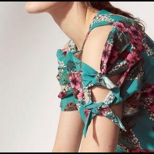 Sandro Paris ViVa turquoise top. Size 3